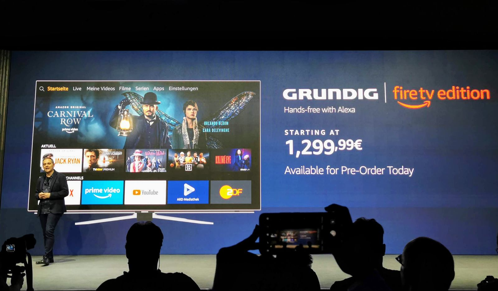 EINMALIGE VERWENDUNG Amazon Grundig Fire TV